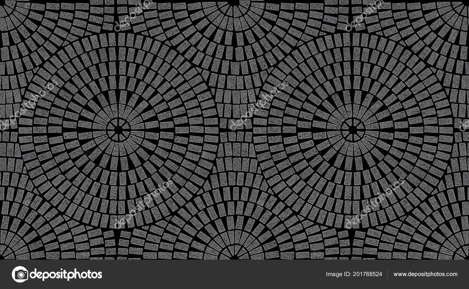 Brick Laying Radial Patterns Patio Paving Stock Photo