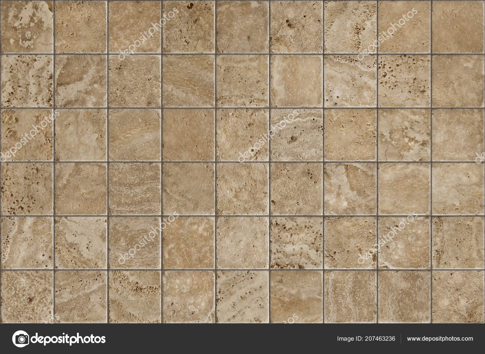 Travertino piastrella ceramica mosaico design quadrato senza
