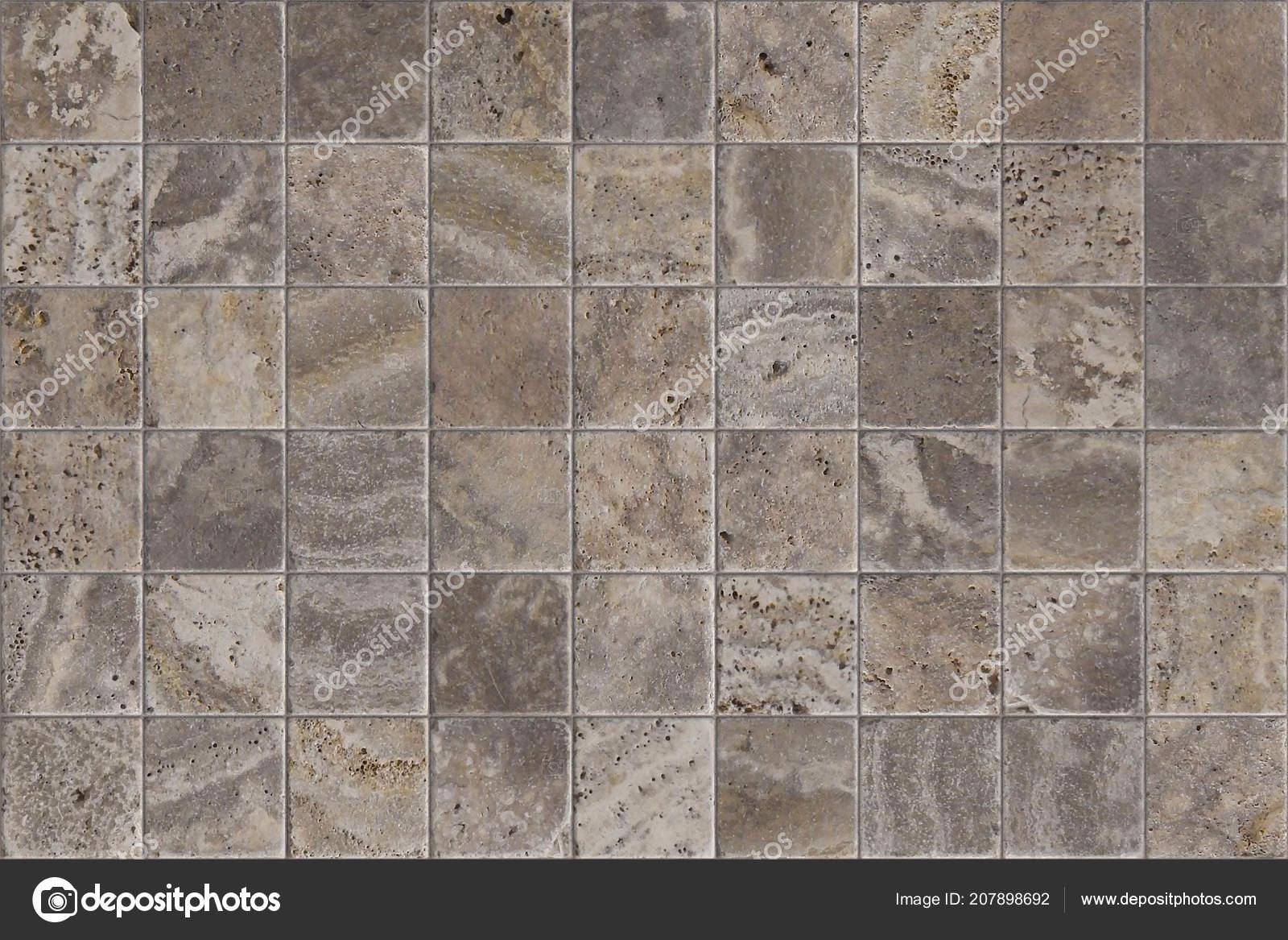 Travertine Tile Ceramic Mosaic Square Design Seamless ...