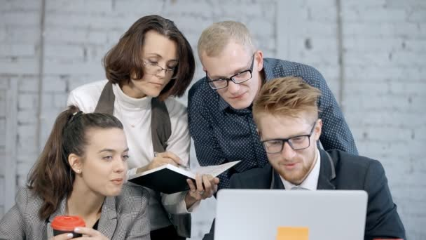 Group of employee planning new project or strategy online