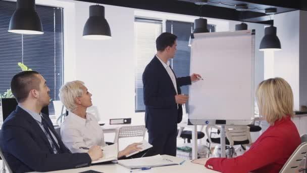 Odborná diskuse o projektu při spuštění s kolegy v kanceláři