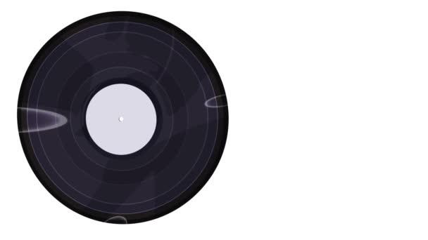 Schallplatte auf weißem Hintergrund in Nahaufnahme