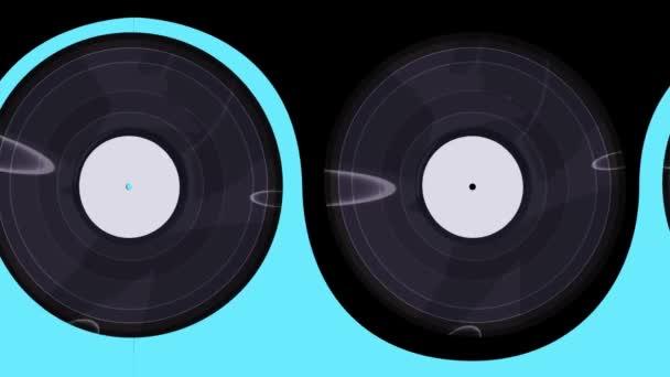 Schallplatten flippen horizontal nach rechts, nahtlos