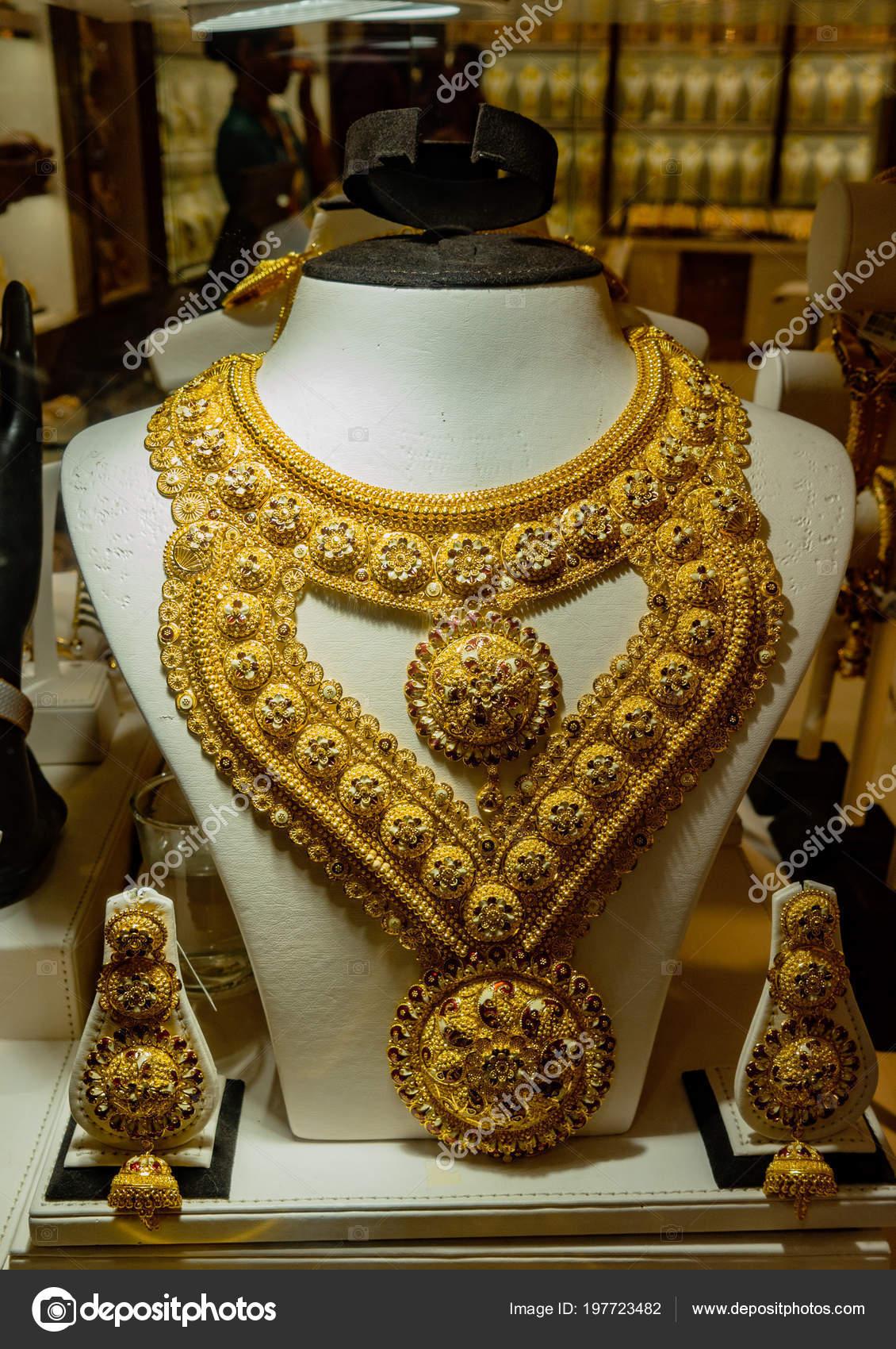 Images: gold necklace design in dubai   Dubai Uae Mar 2018