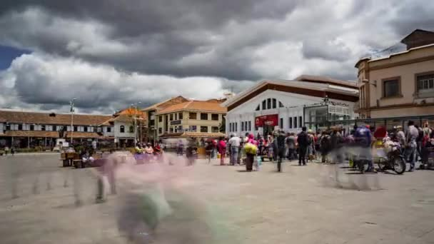October 9 Plaza, Cuenca, Ecuador  -  Aug 23, 2018  -  Time - lapse of daily activity in this market plaza.