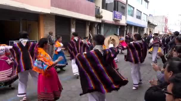 Latacunga, Ecuador  -  20180925  -  Couples Dance in Mama Negra Parade.
