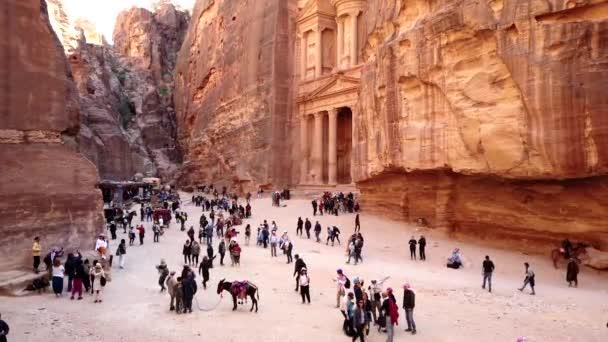 Petra, Jordan - 2019-04-23 - Tourists Wander In Front of Treasury 2