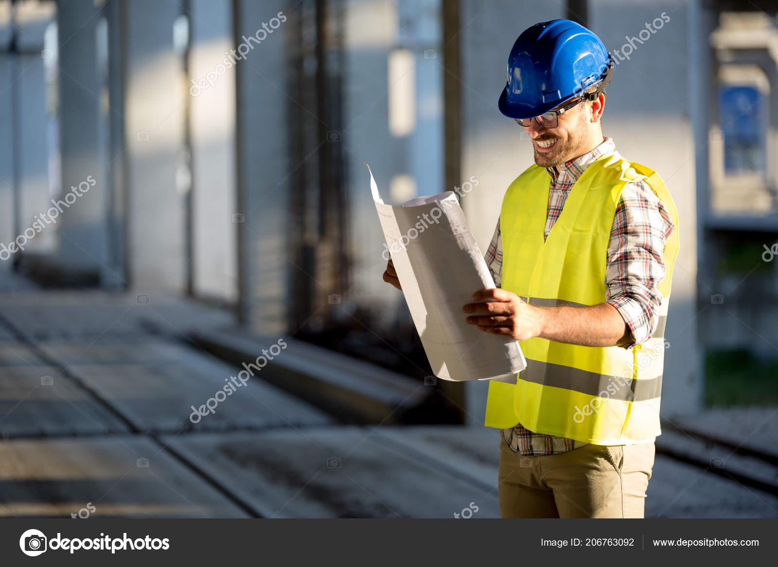Construction foreman job site blueprint stock photo nd3000 construction foreman job site blueprint stock photo malvernweather Image collections