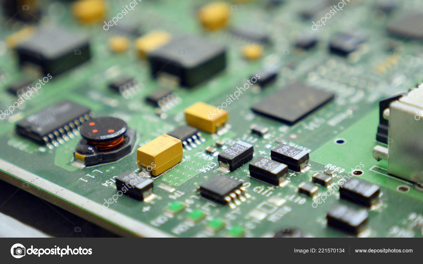 Circuit Board Printed Stock Photos Electronic Circuit Board Printed