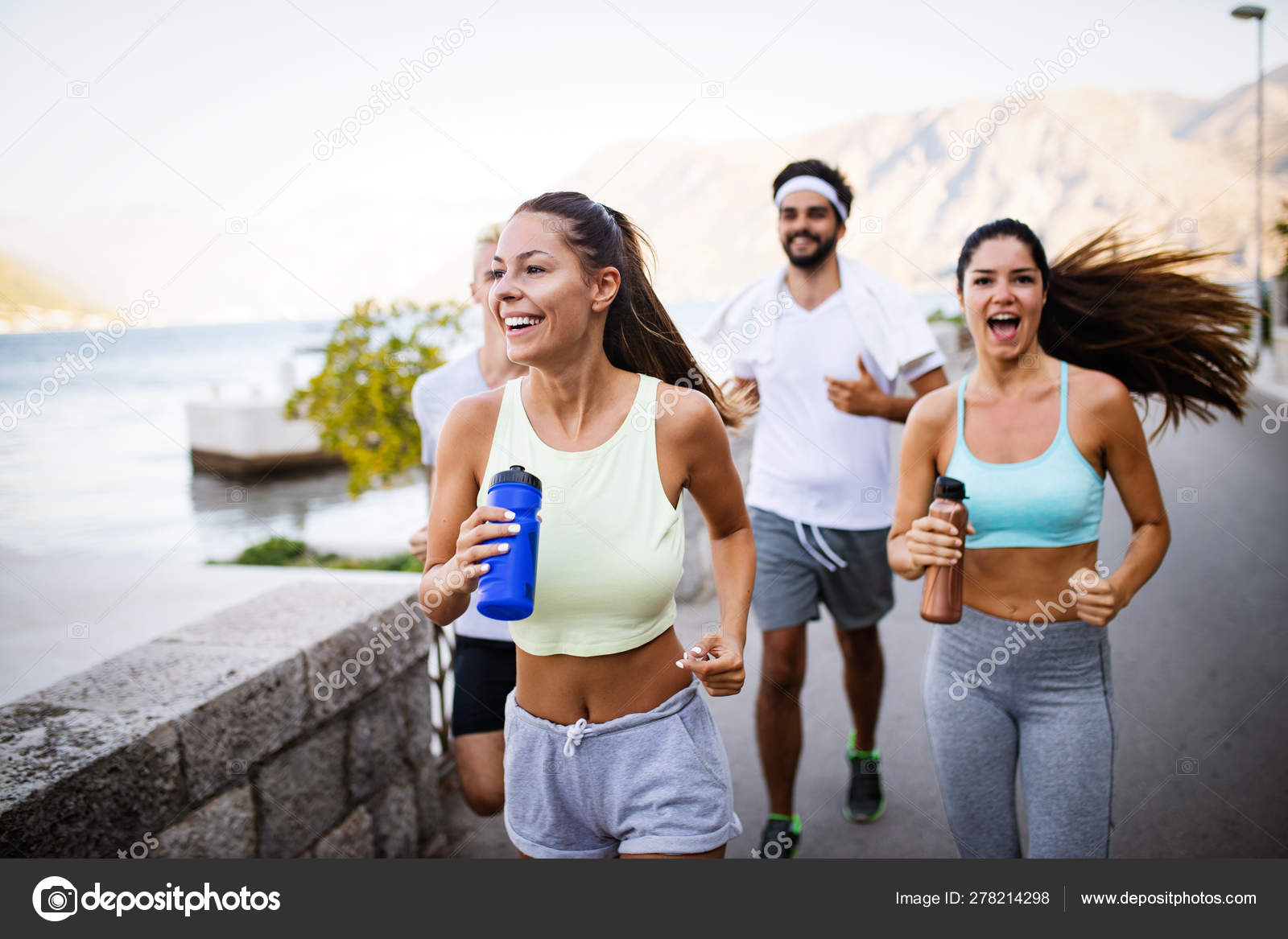 Running Sport Exercising Healthy Lifestyle Concept Happy