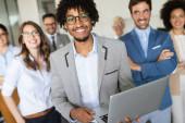 Succesful enterprenours and business people achieve goals