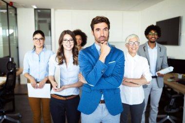 Succesful enterprenours and business people achieve goals stock vector
