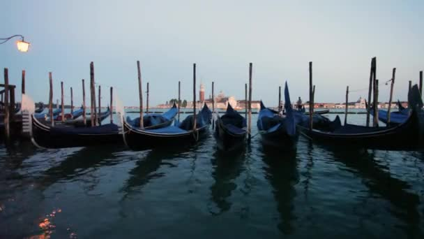 pohled do San Giorgio Maggiore Benátky, gondoly Benátky, Itálie