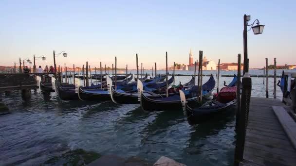 Venezia, Italia - 16.08.2018: vista di San Giorgio Maggiore, Venezia gondole