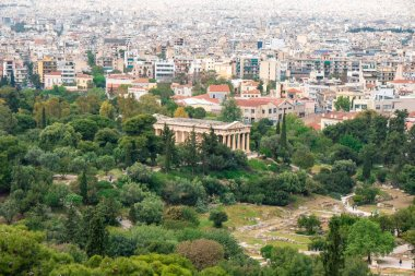 Athens, Greece - 25.04.2019: View of the Temple of Hephaestus fr
