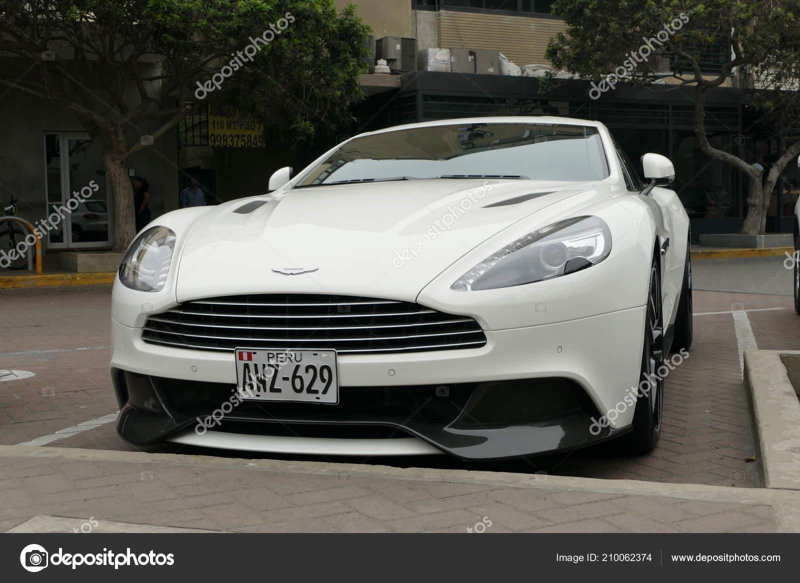 Lima Peru February 2018 Front View Mint Condition White Aston