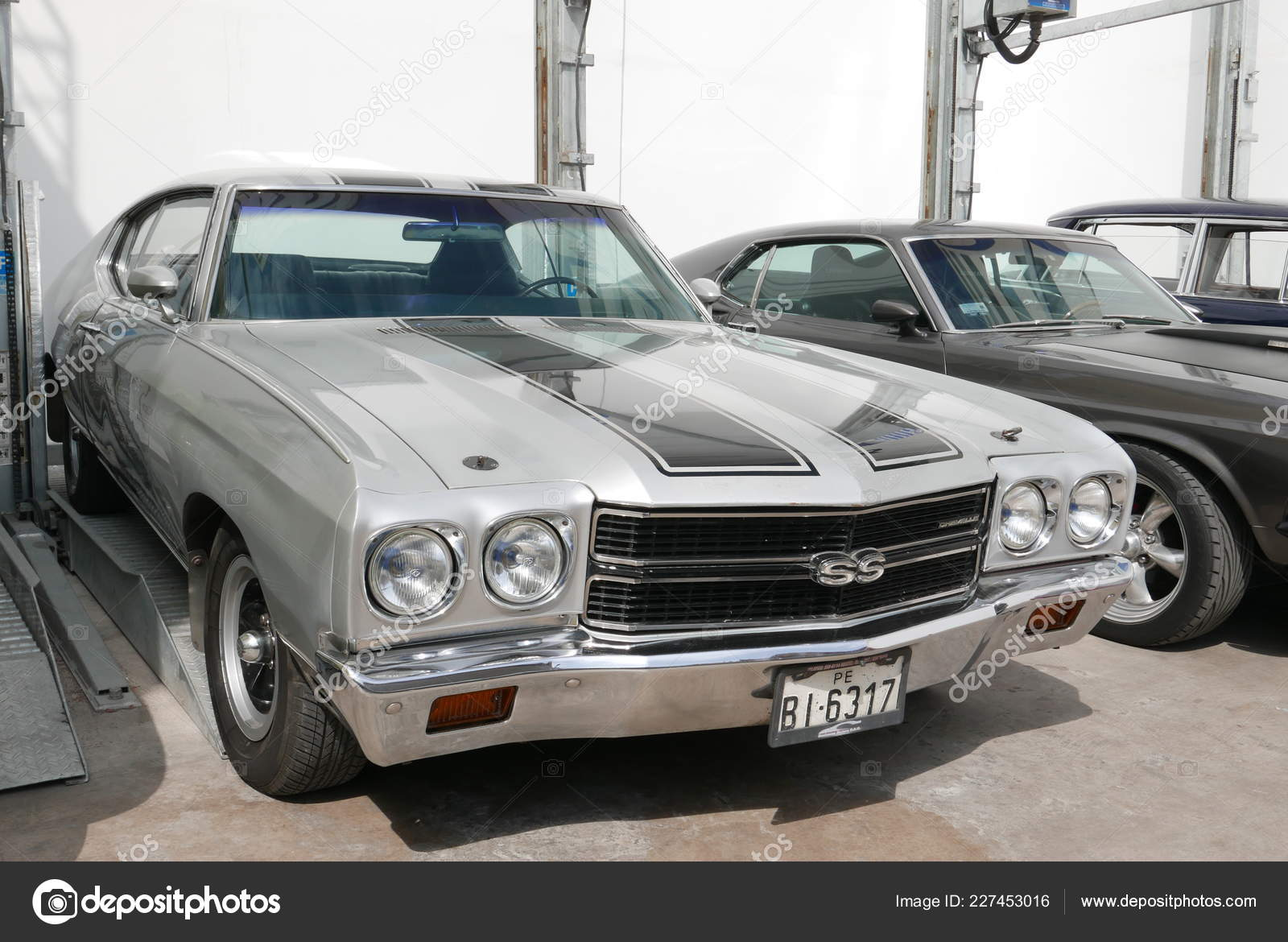 2018 Chevelle Ss >> Lima Peru May 2018 Front Side View Mint Condition Silver