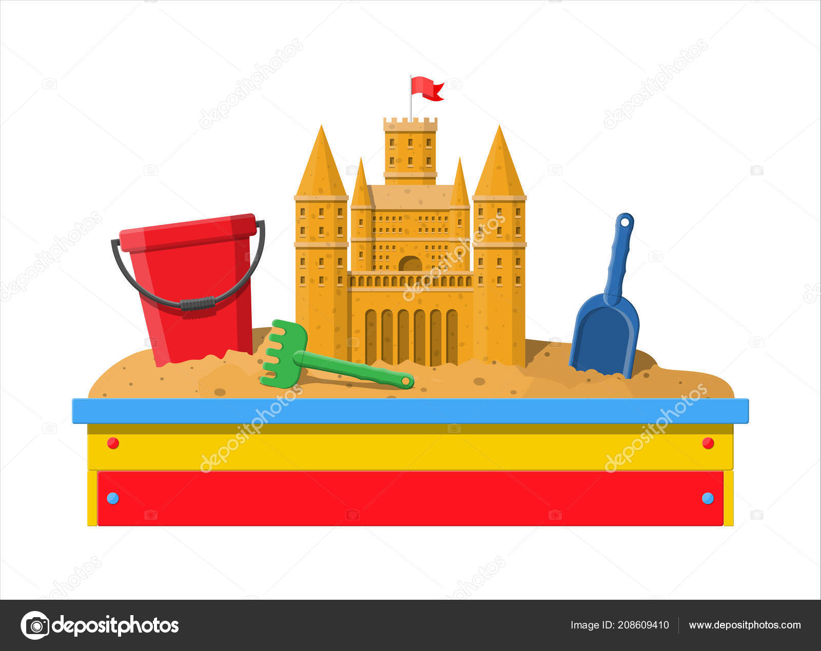 Arenero De Madera Infantil Para Juegos Vector De Stock C Abscent