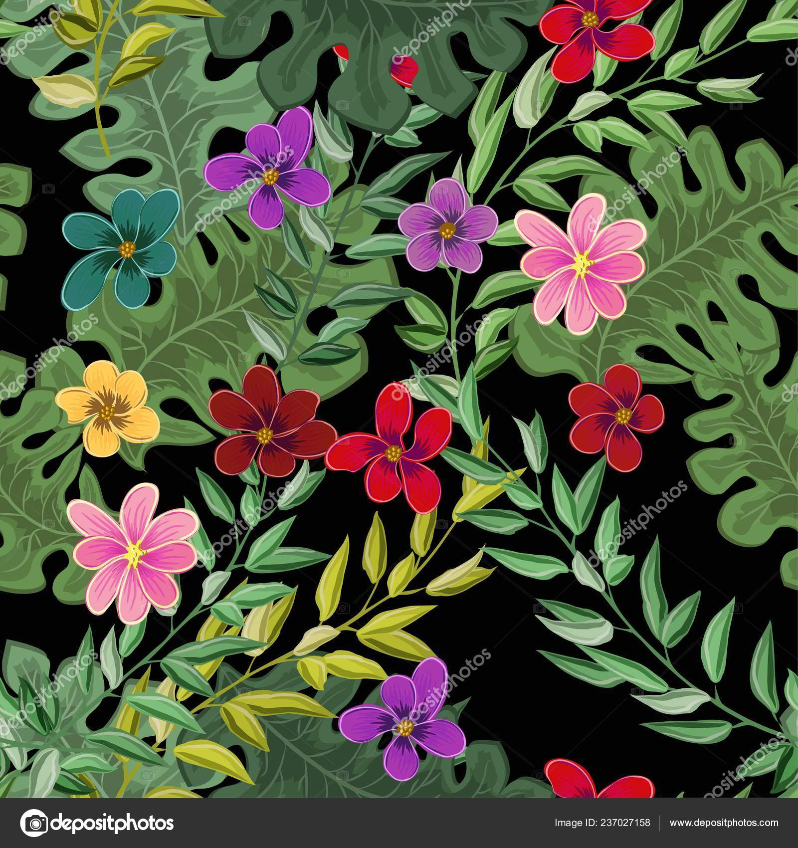 Beach Cheerful Seamless Pattern Wallpaper Tropical Dark Green Leaves Palm Stock Vector C Graffiti21 237027158 Find & download free graphic resources for tropical green leaves. https depositphotos com 237027158 stock illustration beach cheerful seamless pattern wallpaper html