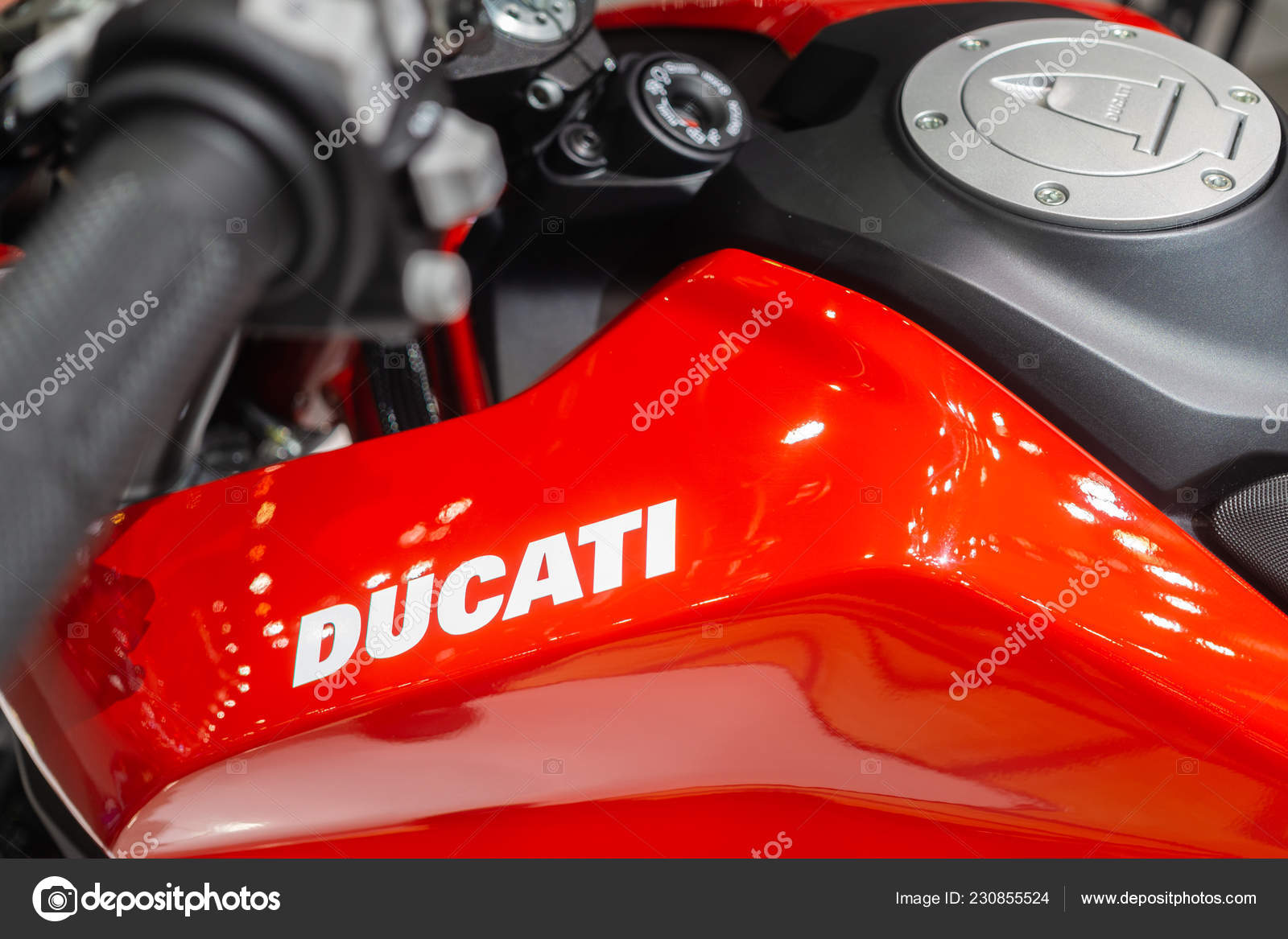 Bangkok Thailand December 2018 Close Ducati Logo Ducati Motorcycle
