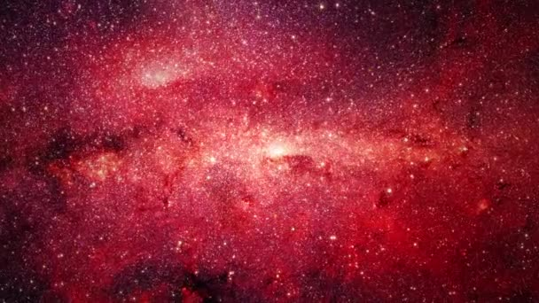 Stars and Galaxies flying to the Center of Milky way. Colorful space background. Nebula, stars, comets. Glowing galaxies and stars passing by. 4K 3D render Space Galaxy Animated Wallpaper.