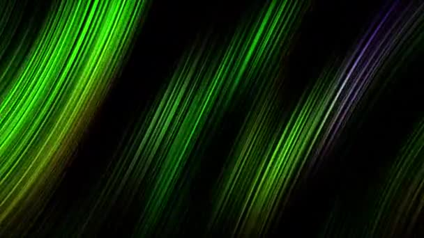 Dark green neon laser stripe lines animation on black background. Abstract grunge tech motion design. 4K 3D rendering seamless looping. Abstract elegant and luxury dynamic motion green lines.
