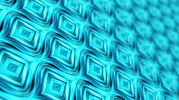 3D abstraktní pozadí sci-fi umělecké geometrie pohybu pozadí. 4K 3D vykreslování bezešvé smyčky futuristické technologie abstraktní VJ pro technické tituly. Barevný zářící světle modrý psychedelický vzor.