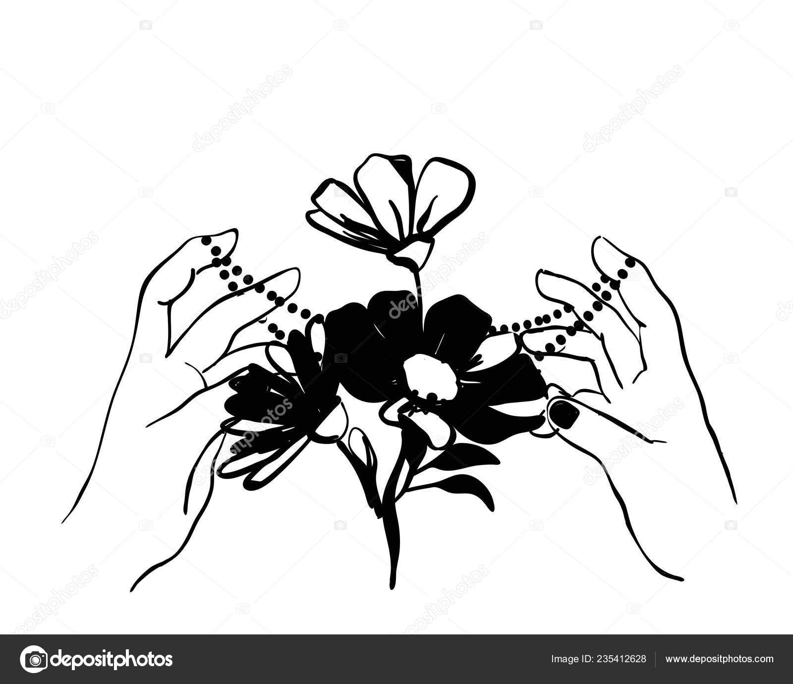 Schizzo Di Illustrazione Nera Elemento Di Vettore Per Il Disegno