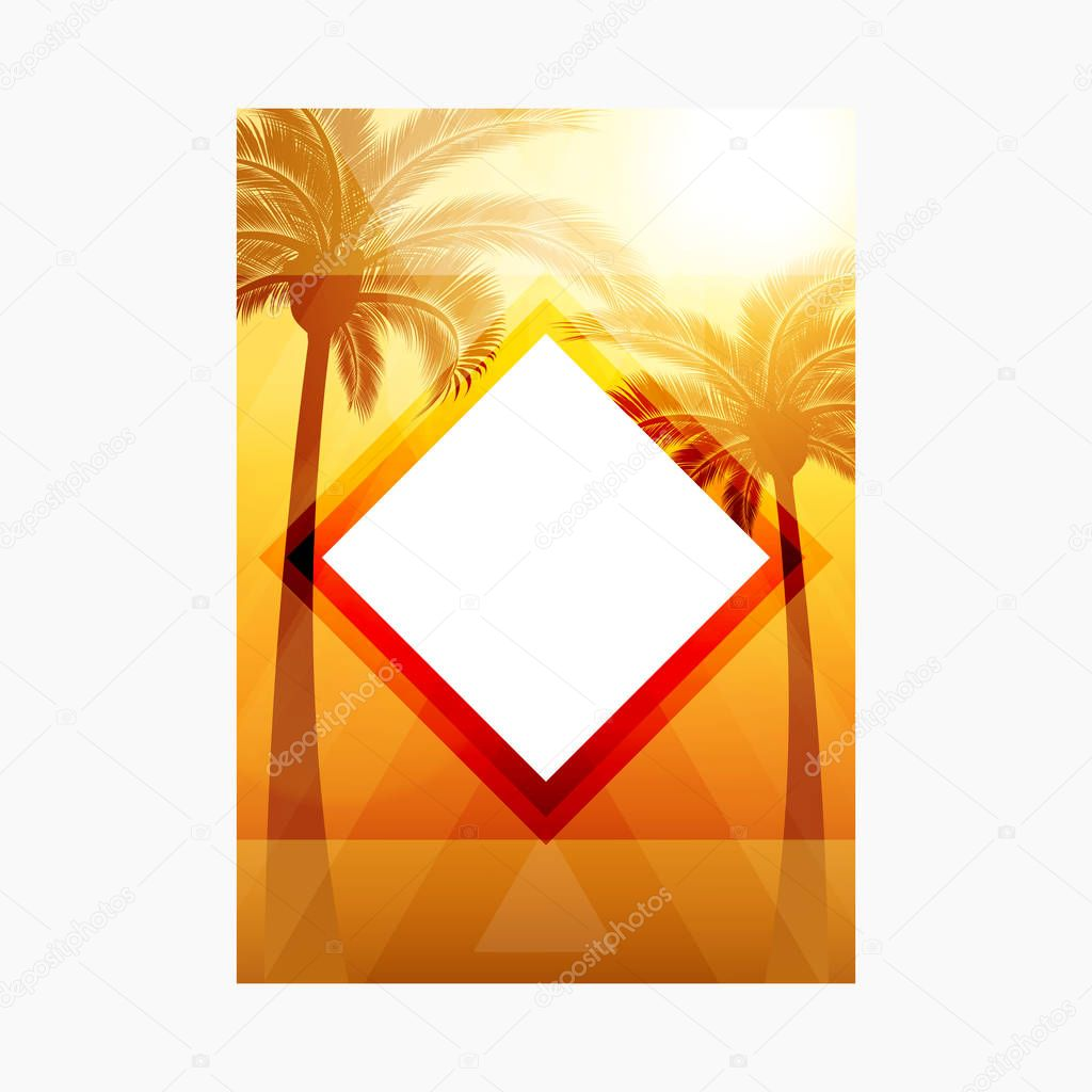 Abstract Geometric Bokeh Colorful Summer Vector Background.