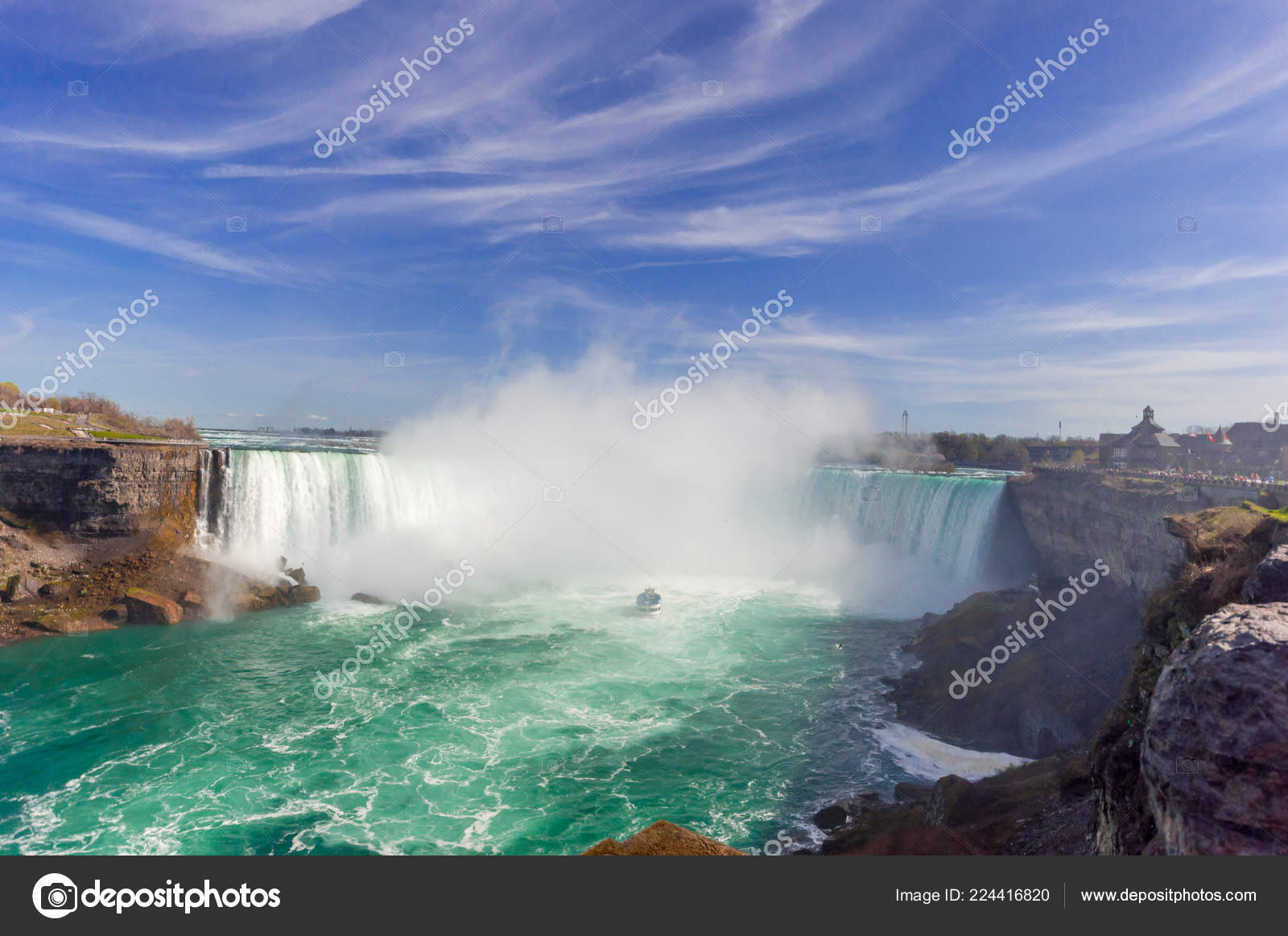 View Niagara Falls Canadian Side Summer Time Stock Photo C Pftrip 224416820