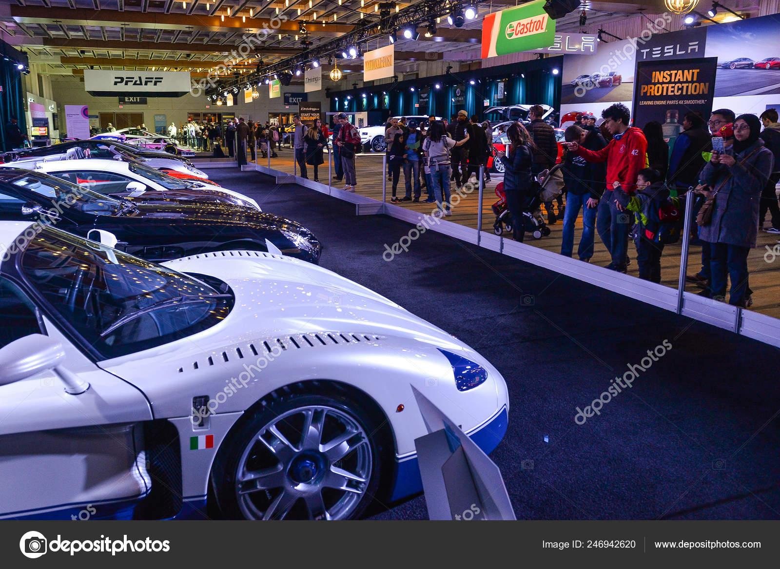 Toronto Carros Exibição 2019 Visitors Canadá Fevereiro Apresentada