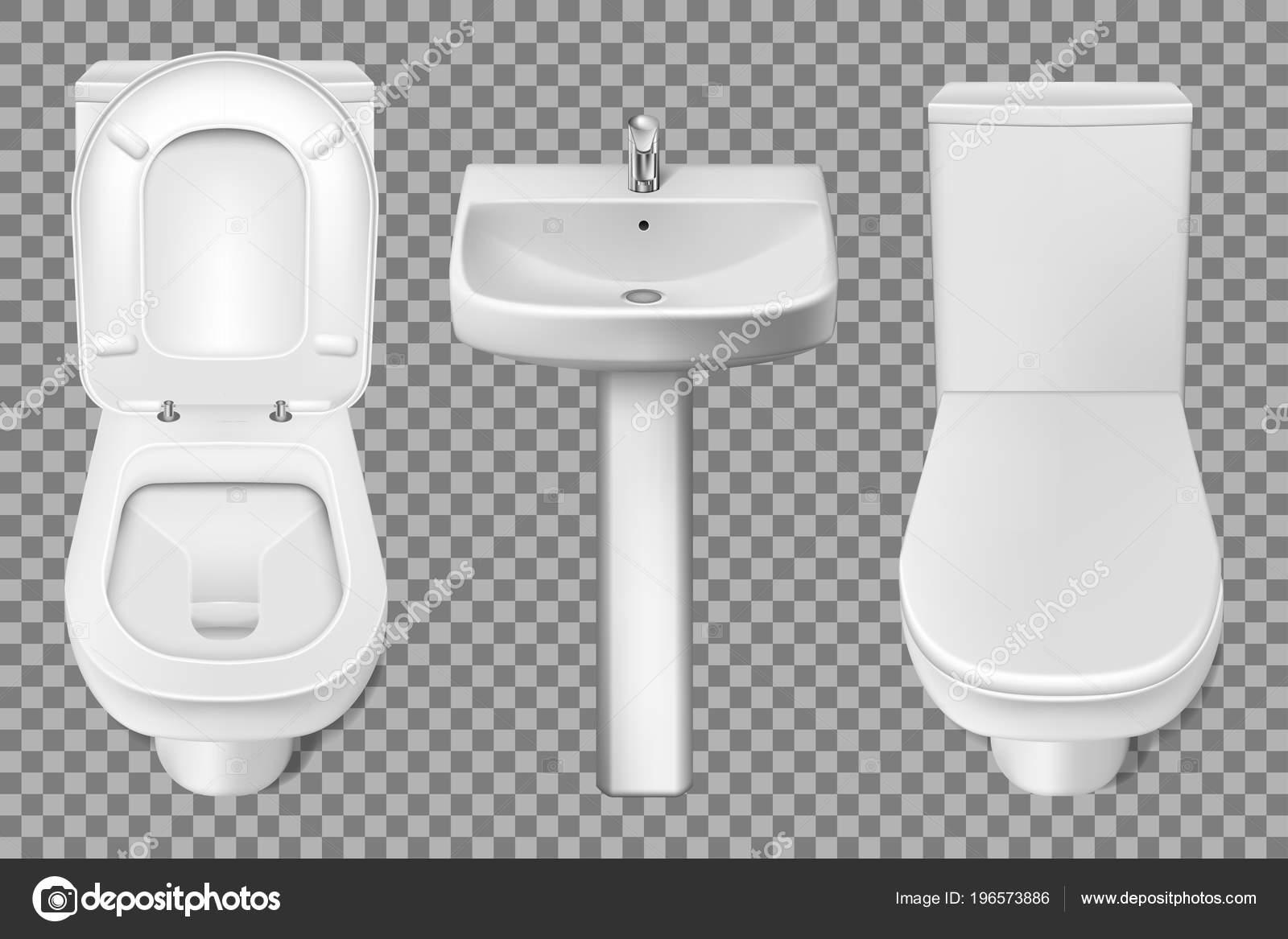 Badkamer Wasbak Kom : Badkamer interieur toilet en wastafel realistische mockup close