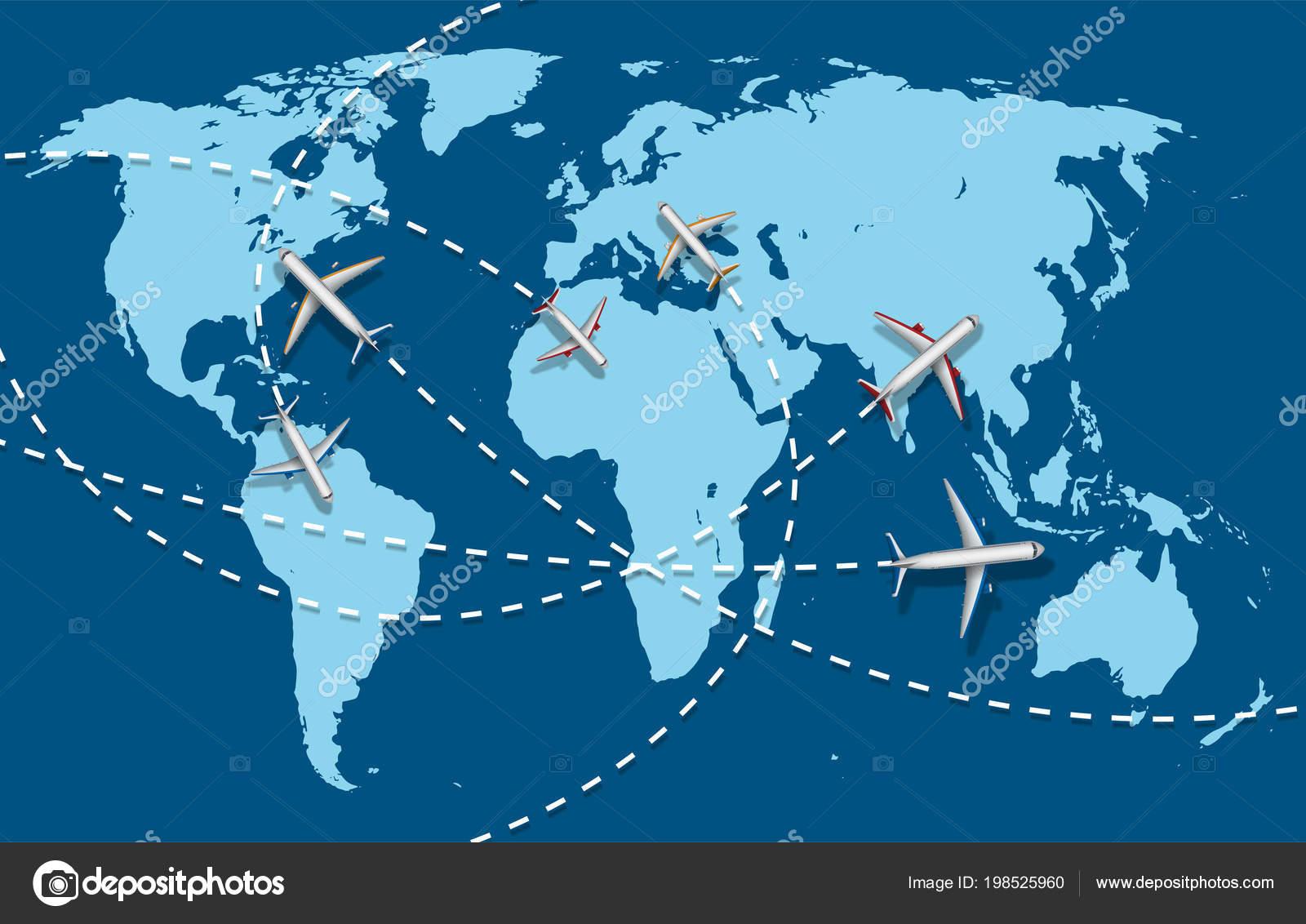 Bandera de viaje de negocios con avi n y mapa de fondo concepto de infograf a mundo destino - Banera de viaje ...