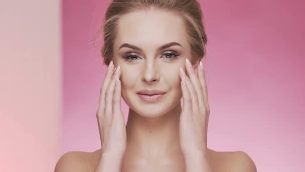 Beauty video concept, close up portrait