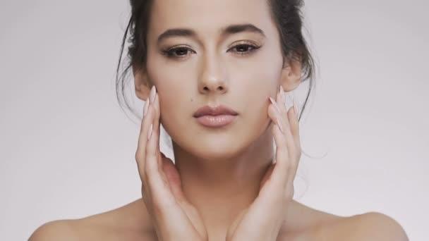 Zblízka portrétní make-upu modelu