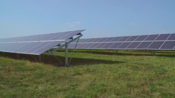 Solar power plant set in the field