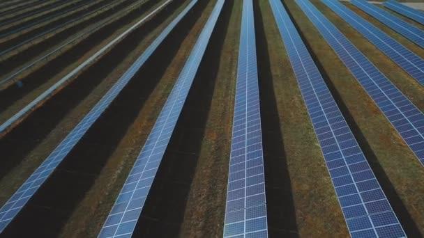 Rostlina modré solárních panelů. Střílel na DRONY