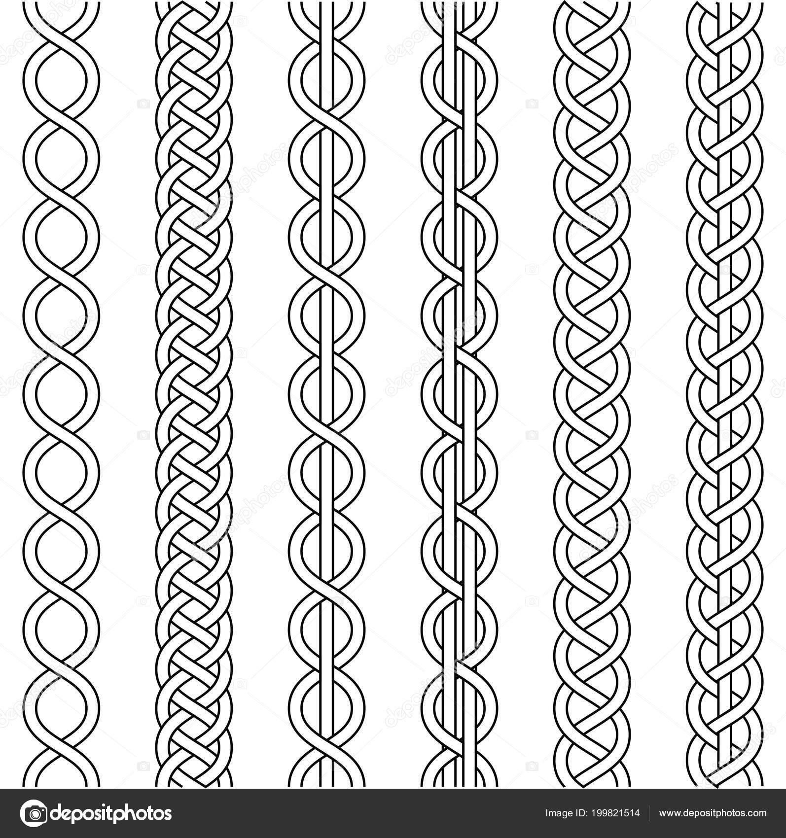 Cuerda de cable tejido, nudo trenza trenzado macrame crochet tejido ...