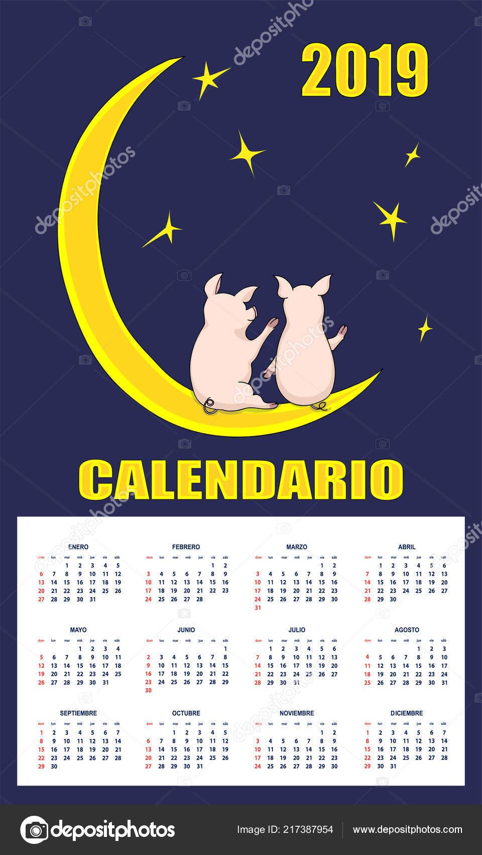 Calendario Numero Settimana 2019.Latino Americano Bambini Calendario Anno 2019 Sullo Sfondo