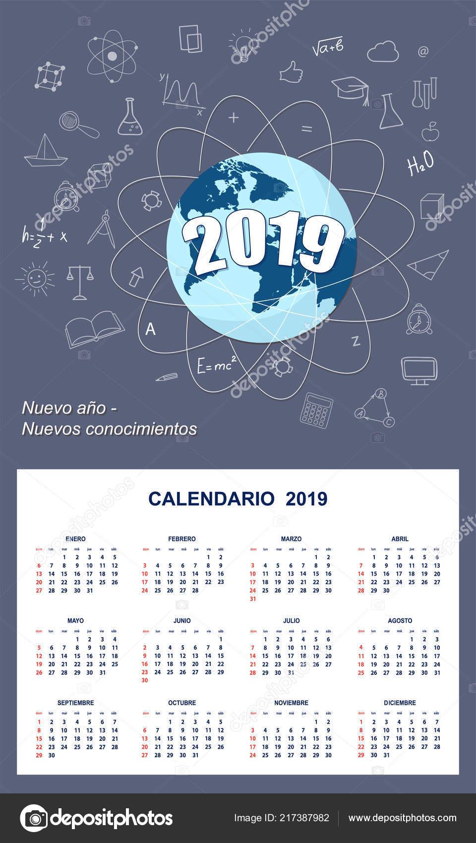 Calendario Numero Settimana 2019.Calendario Degli Studenti Latino Americani Parete Anno 2019