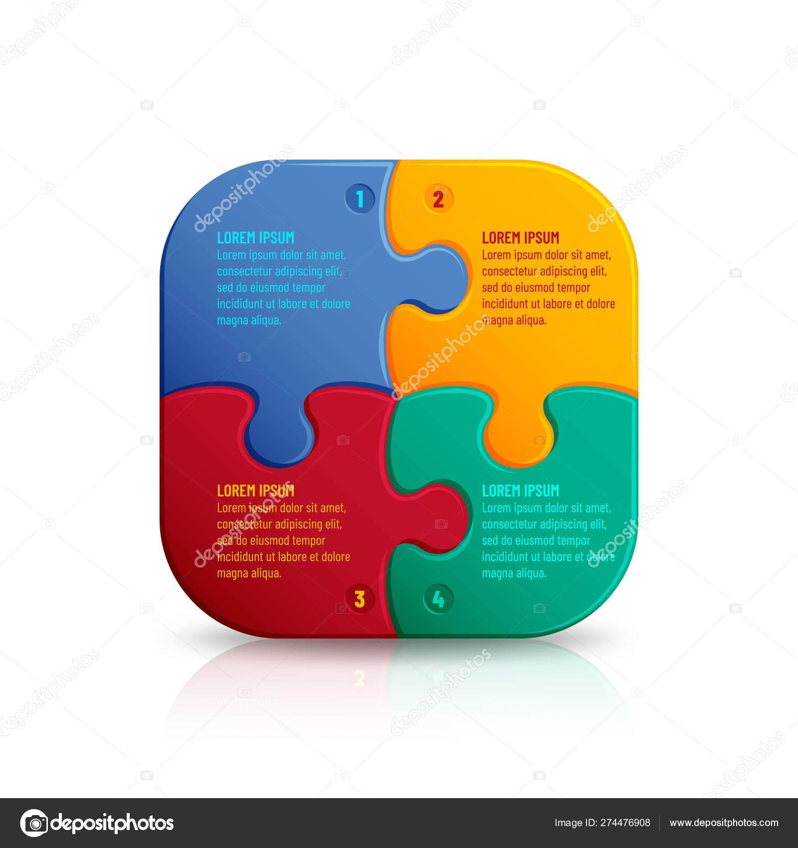 Jigsaw puzzle background with many colorful pieces