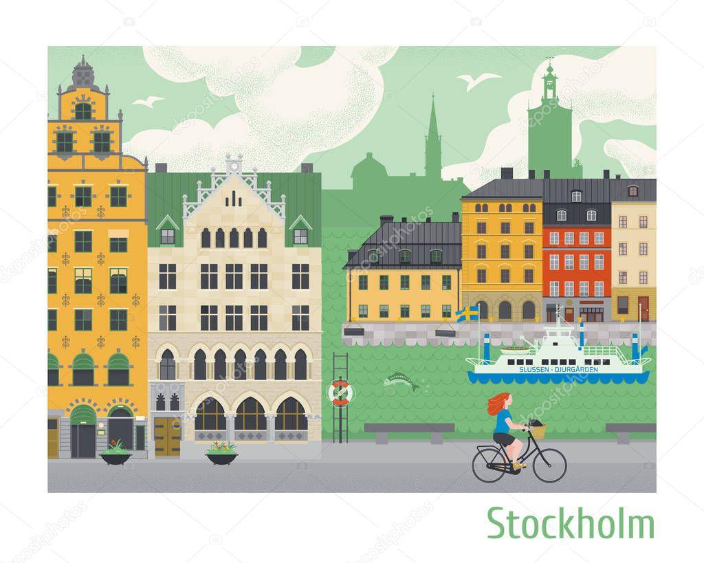 Stockholm Palace in Stadsholmen Sweden vintage engraving Clip Art    k7103339   Fotosearch