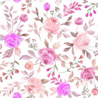 "Картина, постер, плакат, фотообои ""The pastel pink and purple vector seamless flower pattern backdrop background"", артикул 202079036"