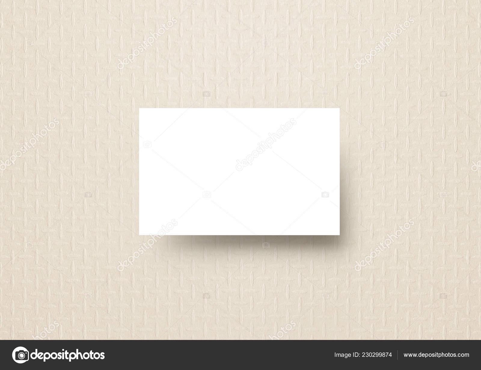 Die Vertikale Visitenkarte Mock Pastell Sand Nullfarbe Mode