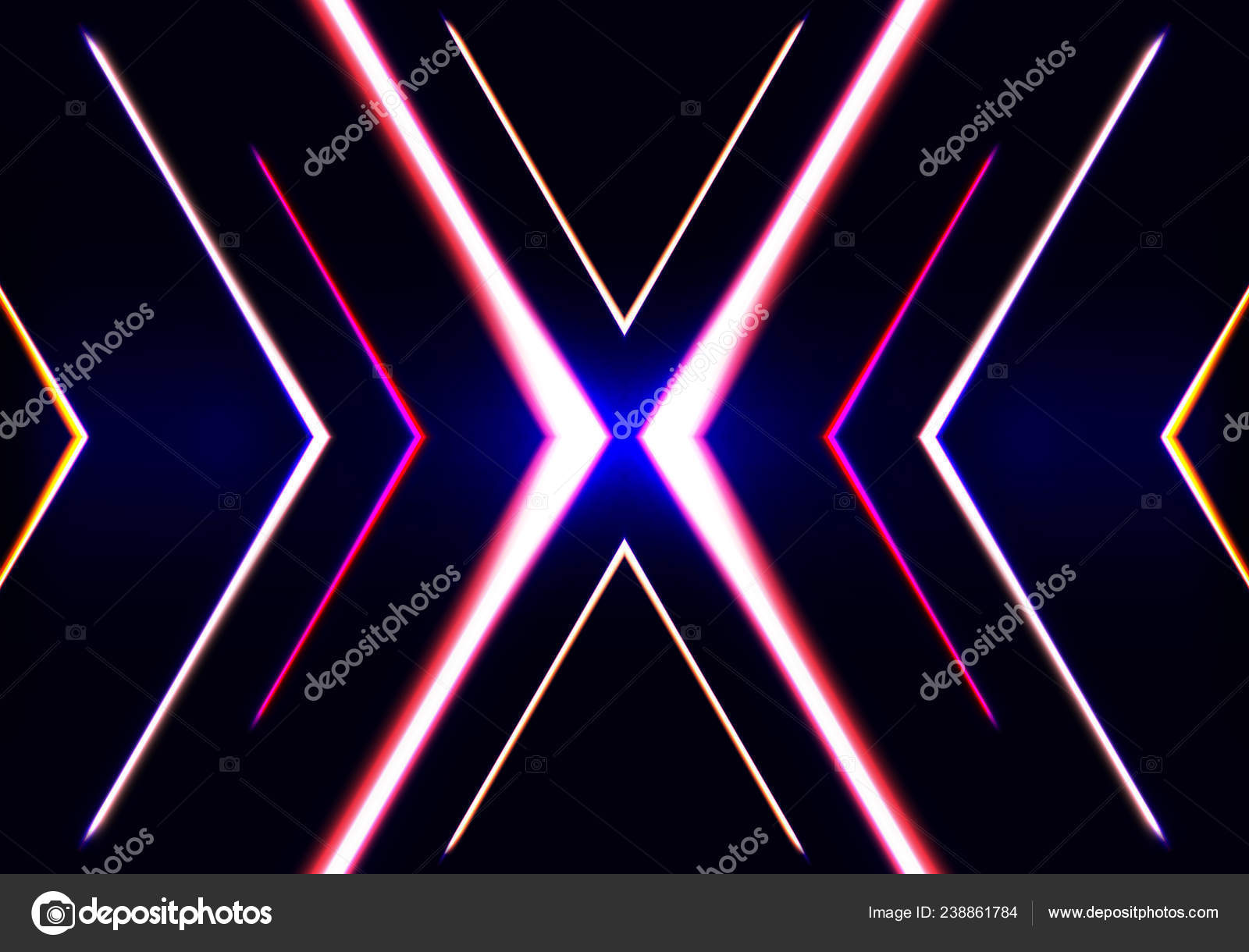 Abstract Background With Neon Lights Vector Fashion Banner