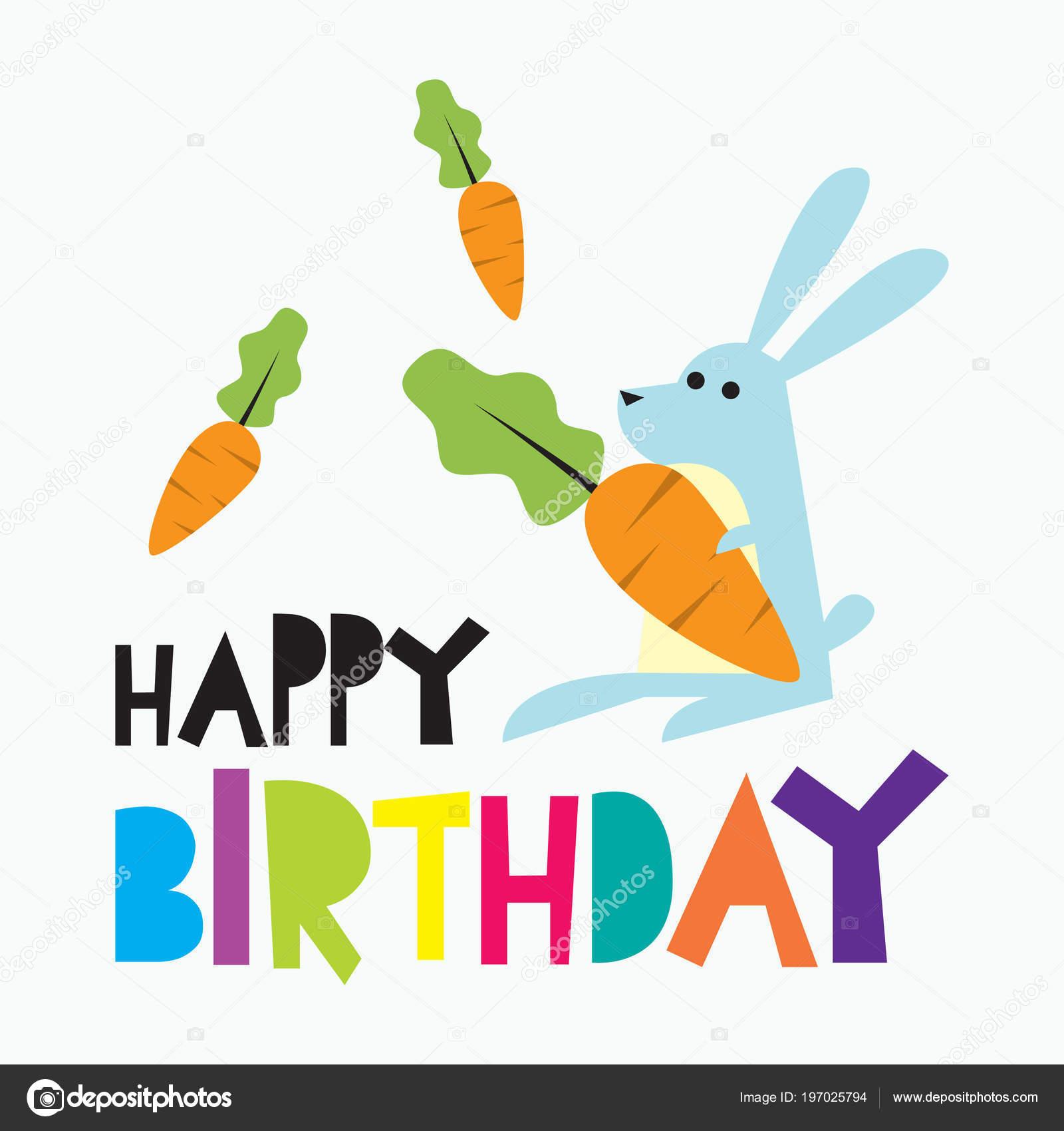 Birthday Card Poster Design Children Colorful Birthday Card Design