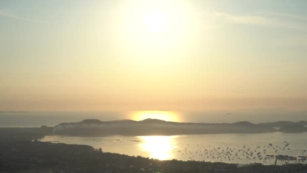 Beautiful Dramatic sunrise sky scenery light of nature footage at phuket island Thailand