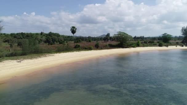 Aerial view 4k drone footage flying around Beautiful tropical island in summer season