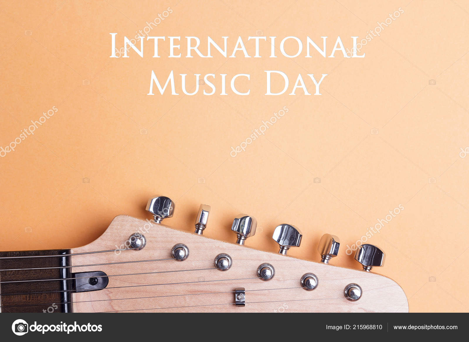 International Music Day Background Electric Guitar Neck