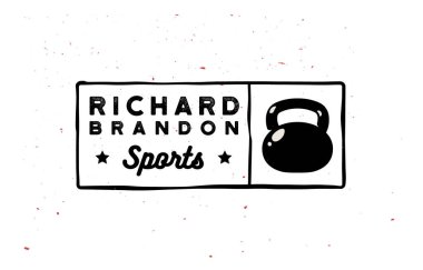 Retro minimal gym logotypes in vintage 1920 - 1960 style.